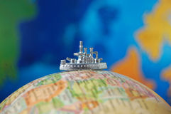 De reis van de wereld Stock Foto's
