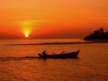 De Reis van de zonsondergang Stock Fotografie