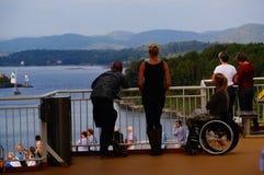 De reis van het cruiseschip, Langesund, Noorwegen Stock Fotografie