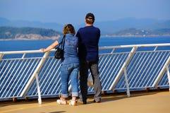 De reis van het cruiseschip, Langesund, Noorwegen Stock Afbeelding