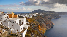 De Reis van het Landschapsgriekenland van het Santorinieiland Royalty-vrije Stock Fotografie