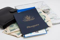 De reis van het paspoort Stock Foto's