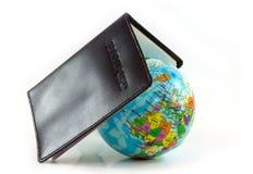 De reis van het paspoortconcept en de wereld royalty-vrije stock afbeelding