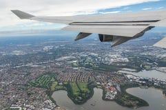De reis van het vliegtuig Stock Foto's