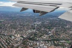 De reis van het vliegtuig Stock Afbeeldingen