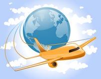 De Reis van het Vliegtuig van de wereld Stock Afbeelding