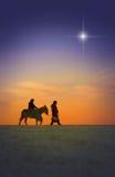 De Reis van Kerstmis stock foto