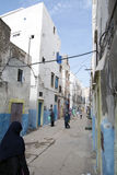 De Reis van Marokko Smalle straat Stock Fotografie