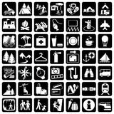 De reis van pictogrammen Stock Afbeeldingen