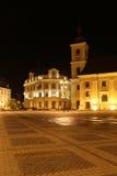 De reis van Roemenië: Sibiu Bruckental Stadhuis Stock Foto's