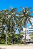 De reis van Singapore - mening van strand in Sentosa-eiland royalty-vrije stock fotografie