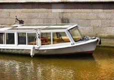 de reis van de de stadsarchitectuur van het bootwater in openlucht Stock Foto