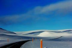 De Reis van de de winterweg in IJsland Royalty-vrije Stock Afbeelding