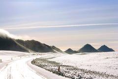 De Reis van de de winterweg in IJsland Stock Foto's