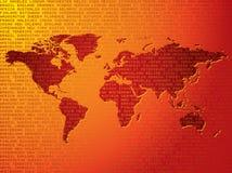 De reisachtergrond van de wereld royalty-vrije illustratie
