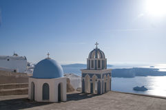 De reisbestemming en landschap van het Santorinieiland Royalty-vrije Stock Afbeeldingen