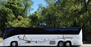 De Reisbus van de muzieksuperster stock afbeelding