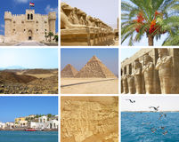 De reiscollage van Egypte Royalty-vrije Stock Afbeeldingen