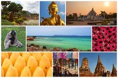 De Reiscollage van Thailand Royalty-vrije Stock Afbeeldingen