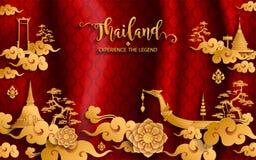 De reisconcept van Thailand de Meeste Mooie Plaatsen royalty-vrije illustratie