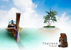 De reisconcept van Thailand stock illustratie