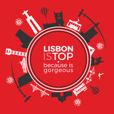 De reismonumenten is Lissabon Stock Fotografie