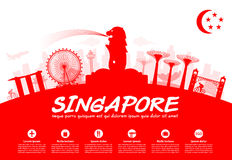 De Reisoriëntatiepunten van Singapore Royalty-vrije Stock Afbeelding