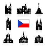 De Reispictogram van Praag, Tsjechische Republiek Royalty-vrije Stock Afbeeldingen