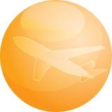 De reisvliegtuig van de lucht   Stock Foto