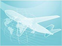 De reisvliegtuig van de lucht Royalty-vrije Stock Afbeeldingen