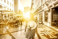 De reisvrouw van Lissabon stock fotografie