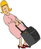 De Reiziger van de vrouw Stock Foto's