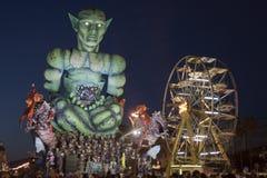 De Reizigers van de Tijd van Carnaval van Viareggio thid plaatsen Royalty-vrije Stock Foto's