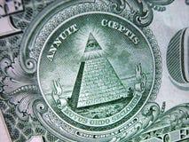 De rekening-Grote verbinding-Piramide van één Dollar Royalty-vrije Stock Foto's
