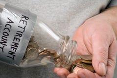 De Rekening van de pensionering Stock Foto