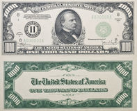 De Rekening van duizend Dollars Stock Fotografie