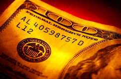 De Rekening van honderd Dollars Royalty-vrije Stock Afbeelding
