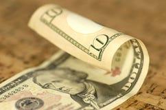 De Rekening van tien Dollar Royalty-vrije Stock Afbeelding