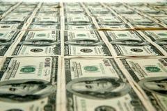 De Rekeningen van 100 honderd Dollars Royalty-vrije Stock Afbeelding