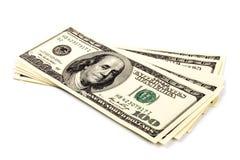 De rekeningen van de dollar Stock Foto's