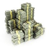 De rekeningen van de dollar die op wit worden geïsoleerdn vector illustratie