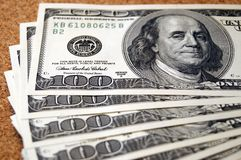 De rekeningen van dollars Stock Afbeeldingen