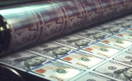 De Rekeningen van de drukamerikaanse dollar Royalty-vrije Stock Foto