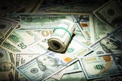 De rekeningen van het dollargeld stock afbeeldingen