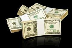 De rekeningen van het dollargeld royalty-vrije stock afbeelding