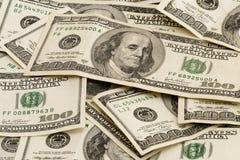 De Rekeningen van honderd Dollars Stock Afbeelding