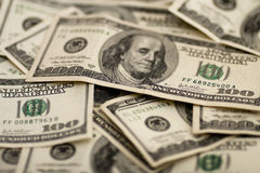 De Rekeningen van honderd Dollars Stock Afbeeldingen