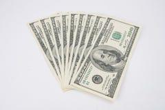 De Rekeningen van honderd Dollars royalty-vrije stock afbeelding