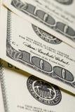 De Rekeningen van honderd Dollars Stock Fotografie