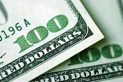 De Rekeningen van honderd Dollars Royalty-vrije Stock Afbeeldingen